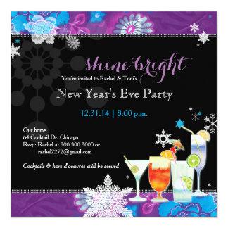 Cartão Partido festivo da véspera de Ano Novo dos