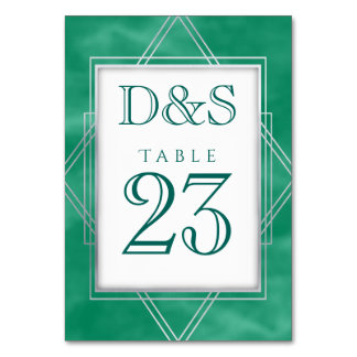 Cartão Partido geométrico da aguarela | do jade verde do
