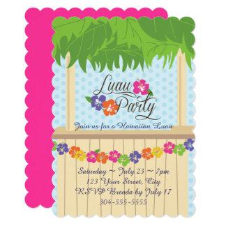Cartão Partido havaiano de Luau
