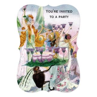 Cartão Partido lunático do Fairyland para alguma ocasião