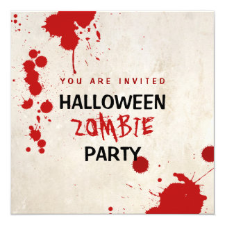 Cartão Partido manchado de sangue do vampiro do zombi do