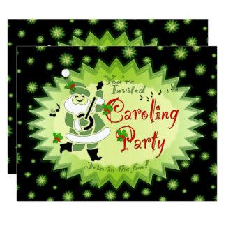 Cartão Partido musical Invitat de Caroling do Natal do
