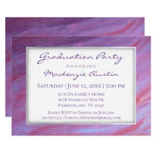 Cartão Partido roxo cor-de-rosa adaptável da zebra da