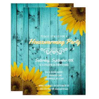 Cartão Partido rústico do Housewarming da cerceta dos
