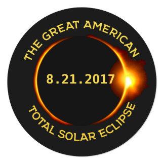 Cartão Partido total 8.21.2017 EUA da visão do eclipse