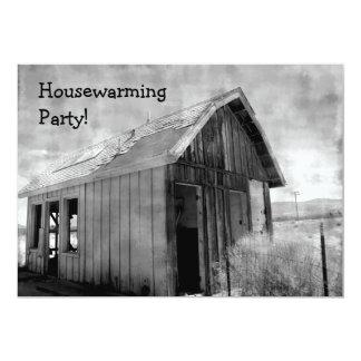 Cartão Partido velho do housewarming da barraca