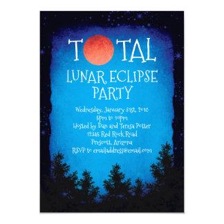 Cartão Partido vermelho total da lua do eclipse lunar