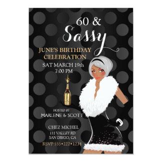 Cartão Party girl Champagne da celebração do