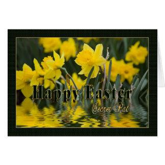 Cartão Páscoa - amigo secreto - Daffodils