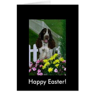 Cartão Páscoa bonito adorável do Spaniel de Springer