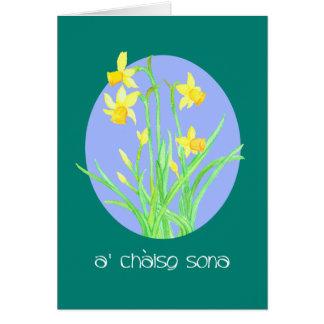 Cartão Páscoa bonito da língua do gaélico escocês dos