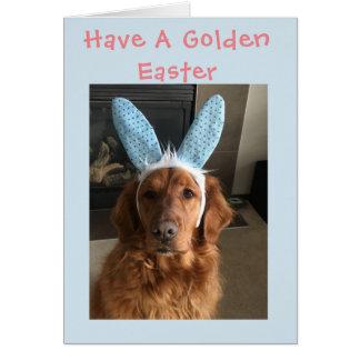 Cartão Páscoa do golden retriever