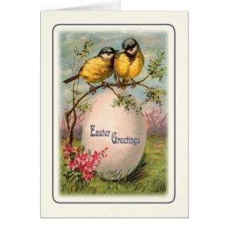 Cartão Páscoa do vintage