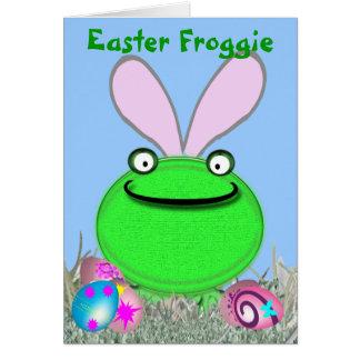 Cartão Páscoa Froggie