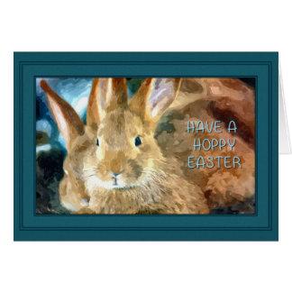 Cartão Páscoa Hoppy do coelho de Brown