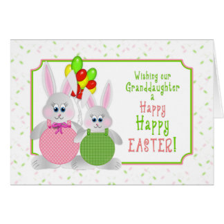 Cartão Páscoa - neta - coelhos & balões