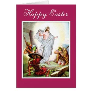 Cartão Páscoa, ressurreição de Jesus é aumentado,
