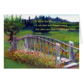 Cartão Passadiço dos pêsames, flores & joaninha Ln dos