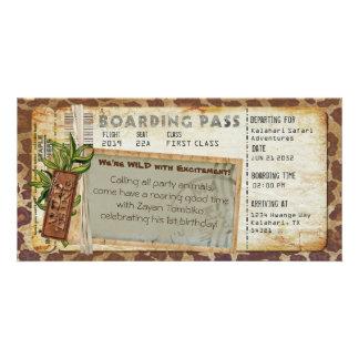 Cartão Passagem de embarque 2 do safari
