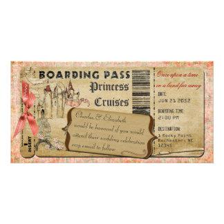 Cartão Passagem de embarque da princesa Castelo
