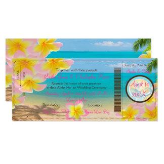 Cartão PASSAGEM de EMBARQUE de PixDezines+PLUMERIA