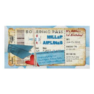 Cartão Passagem de embarque do partido do avião