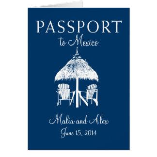 Cartão Passaporte ao casamento de México