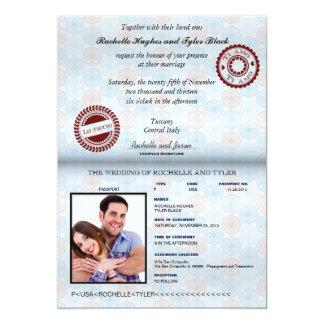 Cartão Passaporte de Italia que Wedding Invitation_custom
