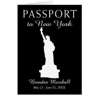 Cartão Passaporte do aniversário de 21 anos da Nova