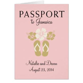 Cartão Passaporte do casamento de Ocho Rios Jamaica