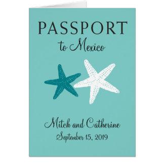 Cartão Passaporte Wedding de Cancun México  