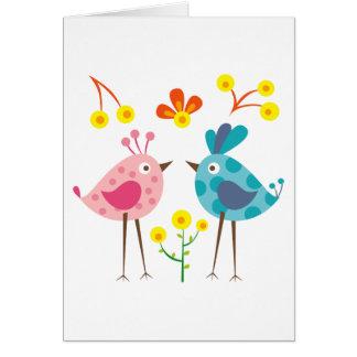 Cartão pássaro 1 do polkadot