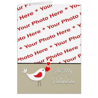 Cartão Pássaro Cartão-Bonito da foto do dia dos namorados