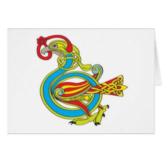 Cartão Pássaro celta