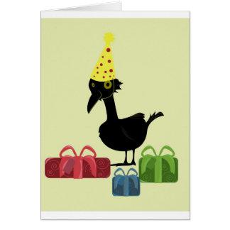 Cartão Pássaro com presentes