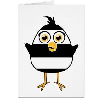 Cartão Pássaro da cadeia