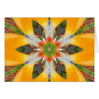 Cartão Pássaro da mandala do paraíso