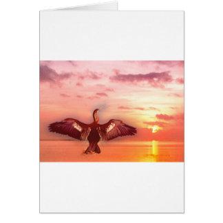 Cartão Pássaro de água