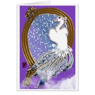 Cartão pássaro de paraíso