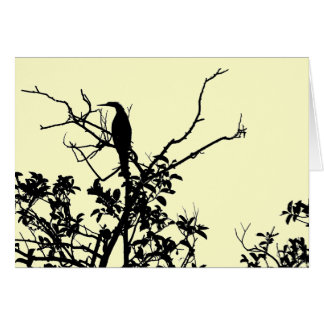 Cartão Pássaro do Anhinga