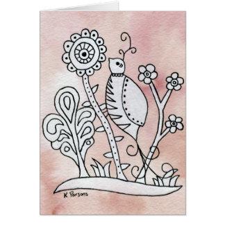 Cartão Pássaro encaracolado, latido mexicano