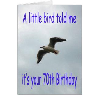 Cartão Pássaro feliz da gaivota do vôo do aniversário do