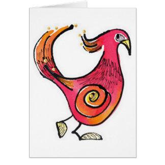 Cartão Pássaro vermelho grande Notecard
