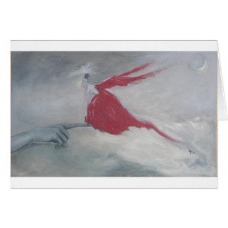 Cartão Pássaro vermelho pequeno