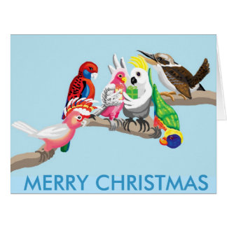 Cartão Pássaros australianos do Natal