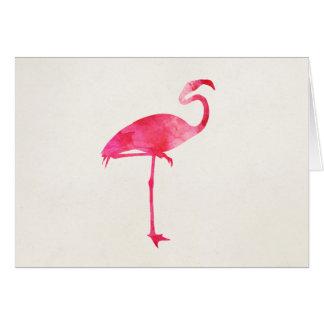 Cartão Pássaros cor-de-rosa de Florida da silhueta da