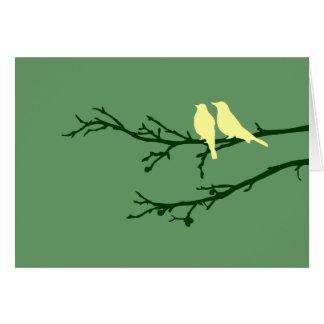 Cartão pássaros da modificação