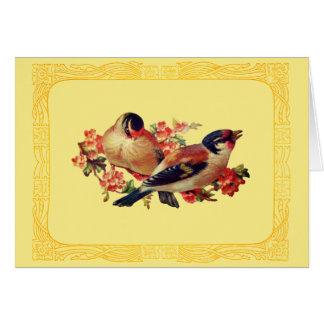 Cartão Pássaros da primavera