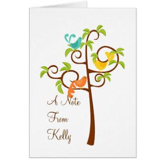 Cartão Pássaros de uma árvore