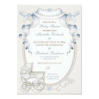 Cartão Pássaros do azul do guingão do marfim da carruagem